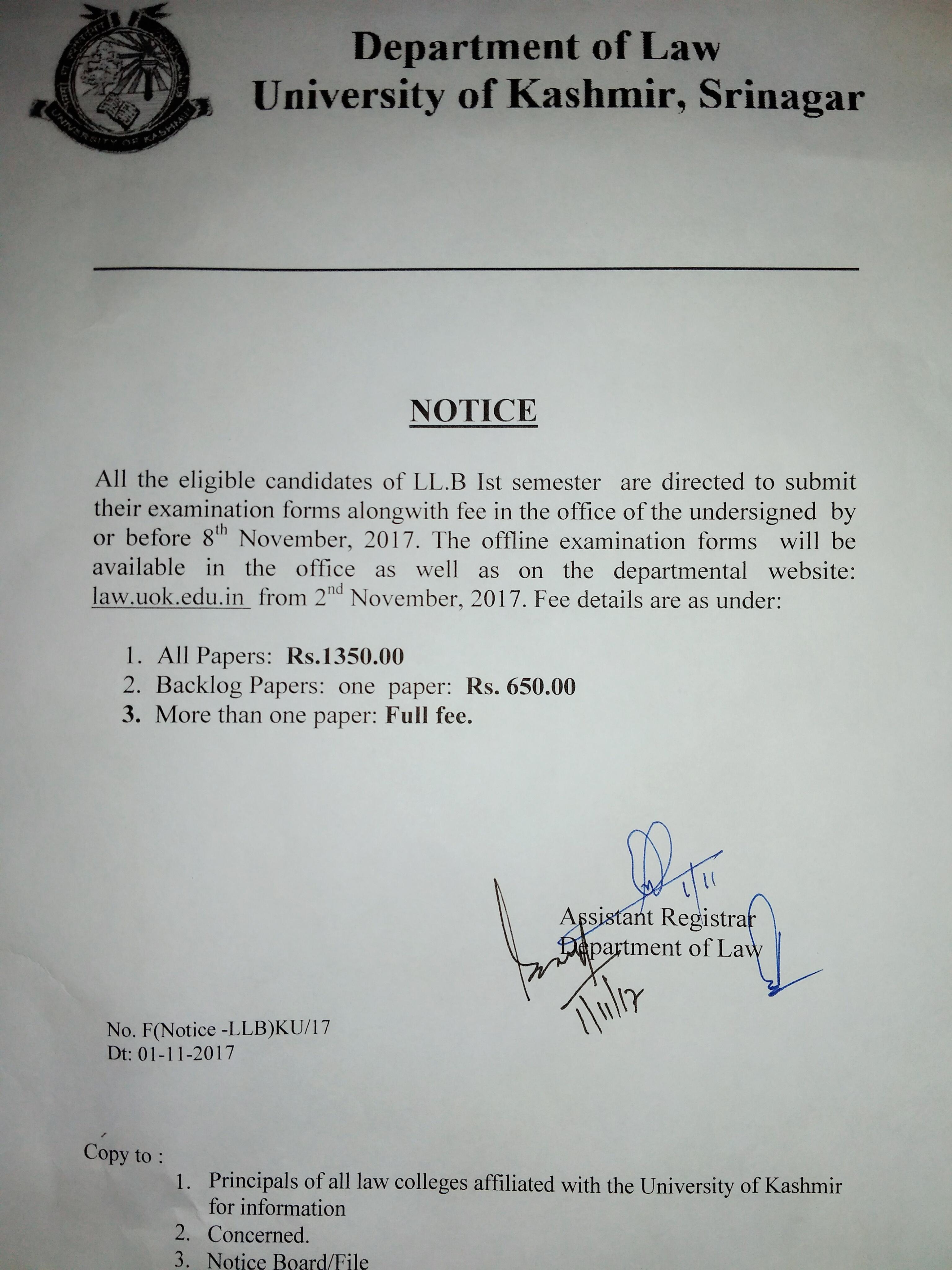 Law, University of Kashmir